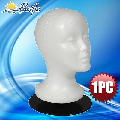 """Female MANNEQUIN 11"""" head with holder base display wig hat glasses"""