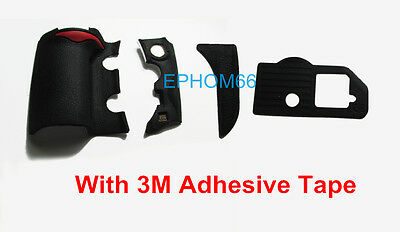 """For Nikon D700 DSLR 4 Pieces Front Rear Grip Rubber Unit with Tape and """"fx"""" mark"""