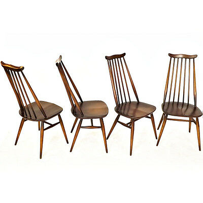 Ercol Dining Chairs Set of 4 Goldsmith Retro (Delivery available) • £220.00