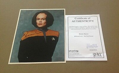 Roxann Dawson as BeLanna Torres Star Trek Voyager Signed Colour Photo with COA