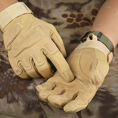 Mens Tactical Army Full-Finger Gloves Outdoor Work Gloves Camping Hiking Gloves