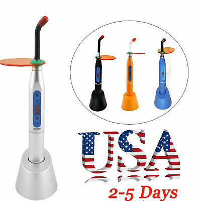 From USA Dental Dentist 5W Wireless Cordless LED Curing Light Lamp 1500mw-Silver