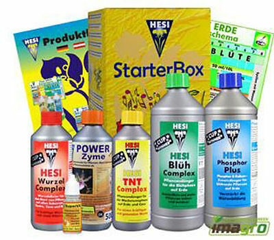 Hesi Starterbox Erde Starter Kit Indoor Grow Dünger Set Homegrow Start Box Boost