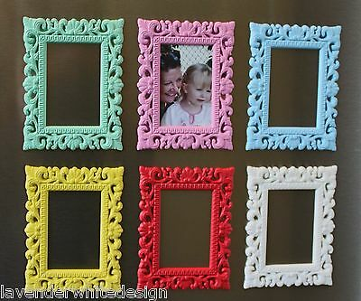 Vintage Style Mini Magnetic Photo Frames - Available in Six Great Colours
