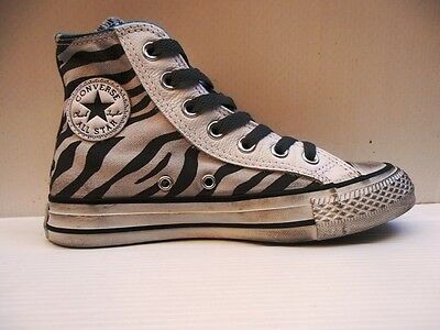 163 CONVERSE SCARPA CT AS HI SIDE ZIP CANVAS GRAPHIC 143791C ZEBRA DISTRESSED