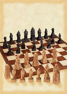 SAC Antiqued Celtic Spare Chess Pieces themed on Irish Battle of Clontarf 1014AD