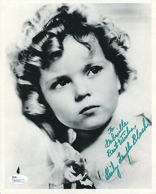 SHIRLEY TEMPLE BLACK HAND SIGNED 8x10 PHOTO+COA    VERY RARE    GREAT YOUNG POSE