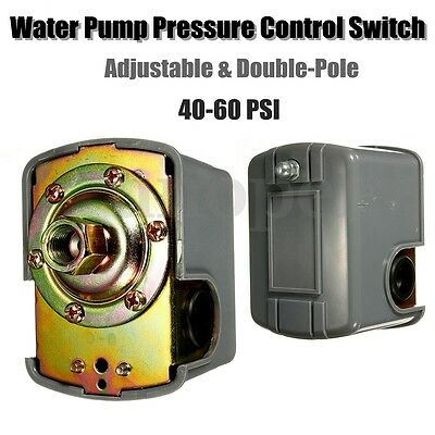 40-60 PSI Water Pump Pressure Control Switch Adjustable Double Spring Pole New