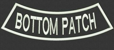 1 Custom Embroidered Bottom Rocker Name Patch Back Biker Motorcycle Tag Badge 12