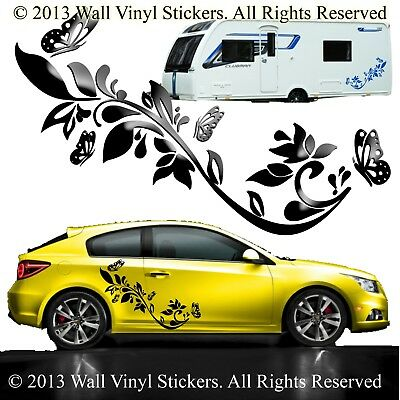 car graphics stickers butterfly flower vinyl decals van custom tiger 2