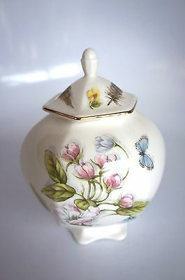"""Aynsley """"nature's Delight"""" Small Jar With Lid"""
