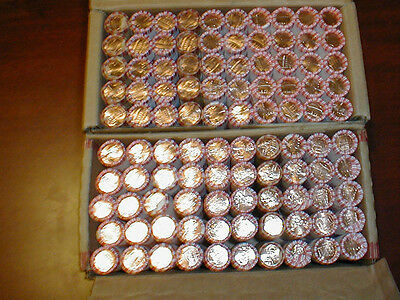 100 Rolls OBW P/D  Lincoln Cents 2009-2010-2011-2012-2013-2014-2015 Penny Box