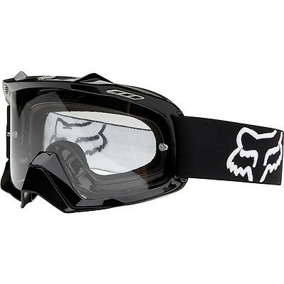 Fox Racing Mx Gear 2015 AIRSPC Polished Black Motocross Dirt Bike Goggles