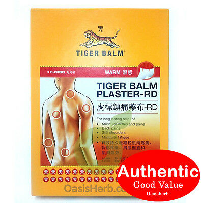Tiger Balm Plaster Patch - RD Warm - 9's 10cm x 14cm (New!)