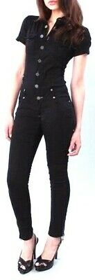2eeaa3b4a1e Akademiks Plus Size Black Jumpsuit Zip Up Ankle Skinny Leg Button Up  Military