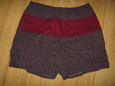 Master Generation Vintage 1990's Mens Purple Paisley Swim Trunks Beach Shorts XL