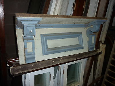 c1870 gingerbread style WINDOW pediment SHELF header 38.5 x 15 x 10 ~ 27.5 BTWN