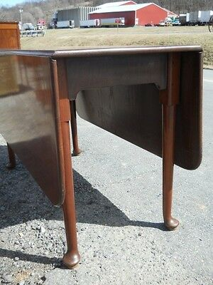 Antique Mahogany Queen Anne Dropleaf Table ~ Mid 1700s