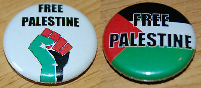 Free Palestine Button Badge 25mm /1 inch Flag / Fist