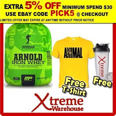 Muscle Pharm Arnold Iron Whey 5Lb Choc // Protein Isolate Wpi Wpc Musclepharm @