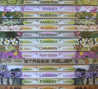 Tulasi Incense Sticks - Many Scents Available (L to Z) - Buy 2 Get 2 Free