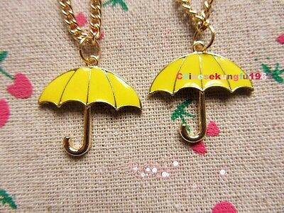 TV Serious How I Met Your Mother Yellow Umbrella Necklace Chain Golden New Rare
