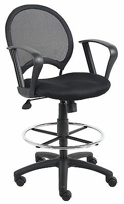 Boss B16217 Mesh Back Drafting Stool with Arms