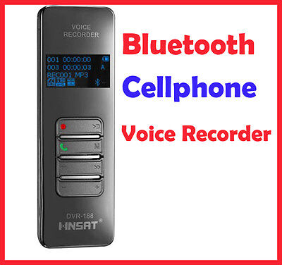Wireless Bluetooth Mobile Cellphone 4GB USB Mp3 Player Digital Voice Recorder