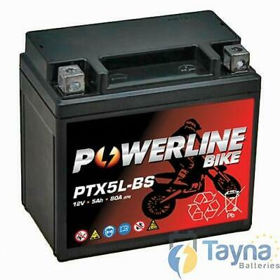 Powerline YTX5L-BS, 12V, 4A, Batterie Moto Free Delivery