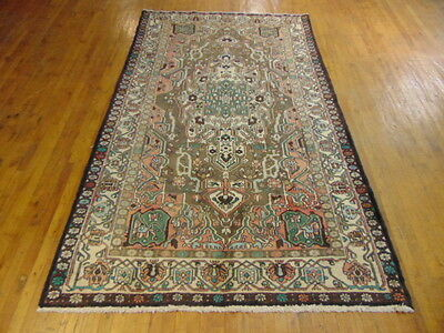 Authentic Hand Made Antique Persian Bakhtiary Area Rug 5.0 X 9.0 La22