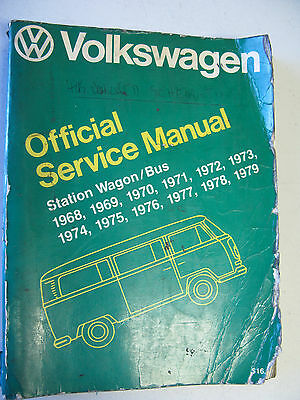 Volkswagen Lpv997288 Official Service Manual Station Wagon/bus 1968-1979