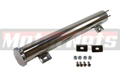 "3/""x16/"" Slim Stainless Steel 3.5 Pint Radiator Coolant Over Flow Tank Reservoirs"
