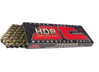 JT HDR Motorcycle Drive Chain 520 114 Links Heavy Duty Gold