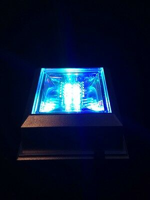 Multi Color Square Crystal Display 4 LED Light Base