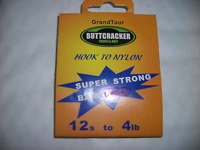 Hooks To Nylon Barbed  ( size 12 ) ( 2 Packs of 10 )