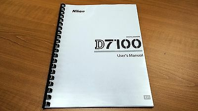 Nikon Digital Slr D7100 Camera Printed Instruction Manual User Guide 384 Pages