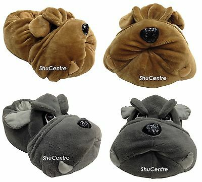 Unisex Funny Novelty Mens British BullDog Slippers Ladies Funky Gift Warm Shoes