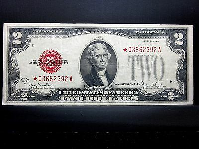 1928-G $2 United States Note ✪ Star Note ✪ Vf Very Fine Choice Ch L@@k◢Trusted◣