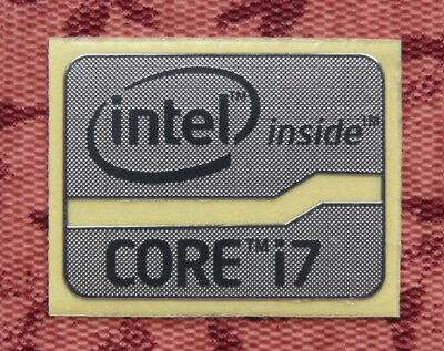 Intel Core i7 Inside Silver Chrome Sticker 16 x 21mm Sandy/Ivy Bridge Badge