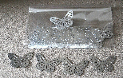 Butterflies (Monarch ) Punches Shiny Silver 30 Pieces
