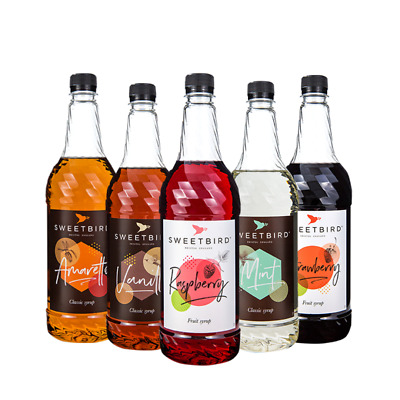 Sweetbird Coffee, Fruit & Iced Tea Syrups (1 Litre Bottles) - Over 30 Flavours!