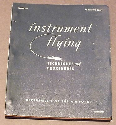 Vintage Instrument Flying US Air Force 1951