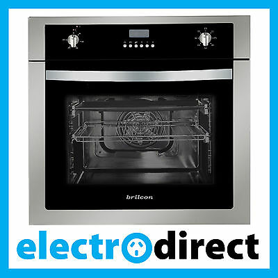 Brilcon 60cm Electric Fan Forced Wall Oven Built-in with Digital Timer Program