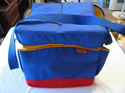 Fisher Price Large Toy Tote Car Home Shoulder Strap Handles Lots Of Pockets