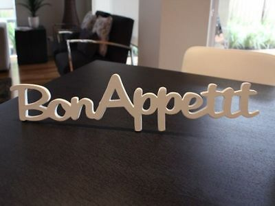 Inspirational Words Wooden display plaque sign Bon Appetit  reduced to clear