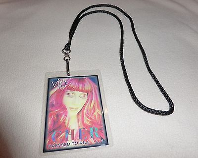 Cher Dressed To Kill Tour Vip All Access Backstage Pass & Lanyard Meet & Greet C