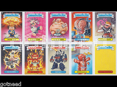 2013 USA Garbage Pail Kids Brand New Series 2 COMPLETE Glow In The Dark Set BNS2