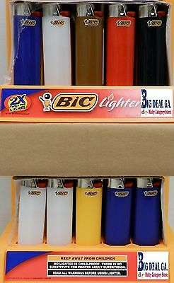 50 BIC full size lighters wholesale lot w/display tray.