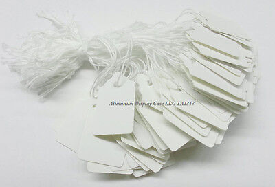 """TA 1313 White Jewelry String Tags 7/8"""" x 1 1/4"""" (pkg of 200)"""
