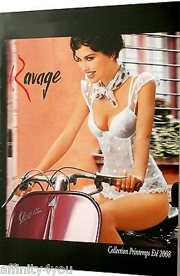 CATALOGUE, Carton Publicitaire,  Lingerie Ravage, Lise charmel, Christies, Naory